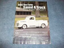 "1950 Ford F-1 RestoRod Article ""Sold the Farm Saved A Truck"" F1 Flathead"