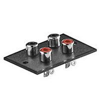 5  x Cinchterminal  rot-schwarz 4 Buchsen mit Lötfahnen