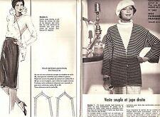 PATRON DE COUTURE Veste souple et jupe droite  taille 44 à 48