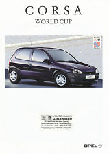 Opel Corsa World Cup folleto 4/94 1994 auto folleto folleto colección auto