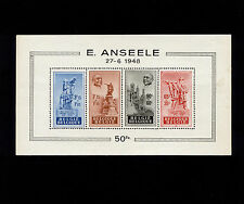 Opc 1948 Belgium Edouard Anseele Souvenir Sheet Sc#B458a Mint Never Hinged