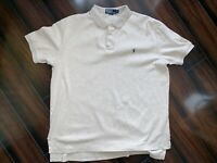 Mens Polo by Ralph Lauren S/S Polo/Golf Shirt Size Large (L) Tan - Cotton
