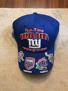 New York Giants 4X Time Super Bowl Championship Hat