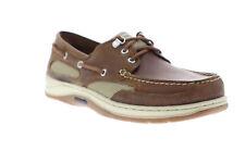 Sebago Clovehitch II FGL Encerado Cuero Marrón para Hombre 7000GE0 Mocasines zapatos náuticos