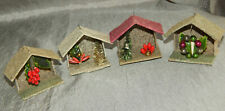 Vintage Christmas Ornament Cardboard Houses Japan #199