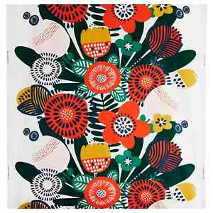 IKEA Irmelin Bold Flowers Patterned Fabric by the metre 100% Cotton 150cm wide