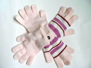 Girl's Acrylic Adult Gloves 2 Pk. - One Size