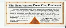 MG-085 - Four Cline Electric MFG Co, Chicago Advertising Ink Blotters, 1920s-30s