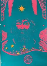 Grow Hair Vintage Blacklight Poster Dunham & Deatherage Hippy Hendrix Afro 1960s