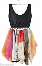 Little Dress Hanging Scarf Organizer - Black - 16 Rings