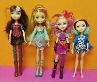 4 Ever After High Doll Hatter Madeline Cerise Hood 1st Chapter Clothes Lot # 8