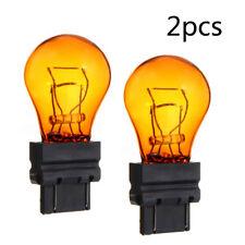 1 Pair T25 3157 Amber Halogen 12V Brake Light Turn Signal Lamp Bulb Accessories