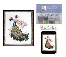 Nora Corbett Mirabilia Cross Stitch PATTERN & EMBELLISHMENT Pack LILAC NC130