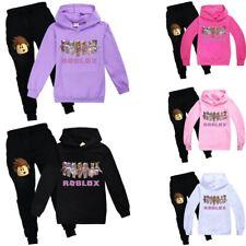 ROBLOX Kids Boys Girls Hooded Sweatshirt Hoodie 2PC Top+Pants Tracksuit Set Gift