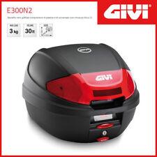Valise / Coffre Givi Case E300N2 Universel - Noir/Catadioptres Rouges