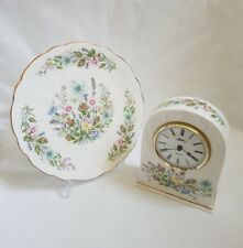 SALE ❀ڿڰۣ❀ AYNSLEY China WILD TUDOR Decorative CARRIAGE CLOCK,TRINKET BOX, PLATE