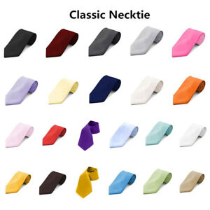 Tie For Men Neckties Prom Self Casual Formal Party Wedding Solid New Colors