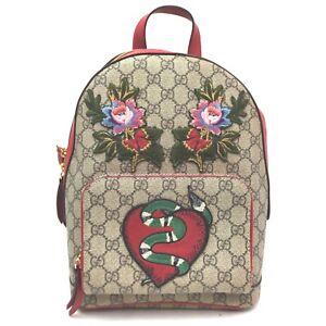 Gucci Back Pack  Light Brown PVC 707660