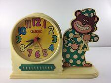 VTG BZ Bear Alarm Clock - CLOCK WORKS, ALARM DOESN'T - Distressed - Toy Kids