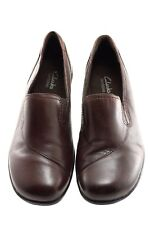 Clarks Bendables Womens Shoes Size 8 Brown Slip On Leather Upper