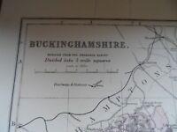 Antique map - Buckinghamshire - 19th century map - colour - 34 x 50 cm's