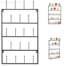 Mug Holder Wall Mounted Storage Rack Kitchen Hook Cup Organizer 5 Tier Metal New