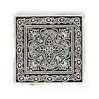 Decorativo Blocchi IN Legno Tessuto Stampa Marrone Indiano Scrapbook Timbri