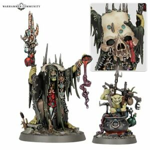 Orruk Swampcalla Shaman and Pot-grot + Warscroll