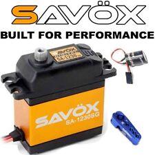 Mega Combo - Savox SA-1230SG Servo + Glitch Buster + Aluminun Horn