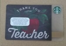 Starbucks Card UK - 2016 THANK YOU TEACHER  **Mint Condition**