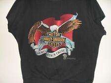 Vintage 1987 Harley Davidson Short Sleeve Sweat Shirt Rebel Speed Limit 70 3