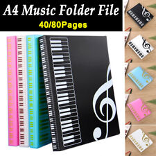 40/80Pages Expanded Piano Score Filing Products Music Folder File Book Folder