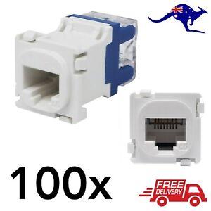 100x Clipsal Compatible Style CAT6 RJ45 8P8C Network Data Jack Mech Insert
