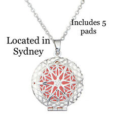 Aromatherapy Necklace Women Aroma Perfume Diffuser Locket Pendant Essential Oil