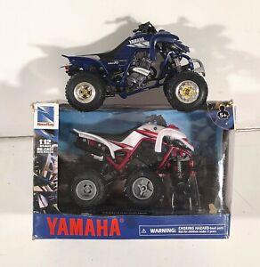 New-Ray Yamaha raptor ATV Scale 1:12  lot of 2 (Damaged items)