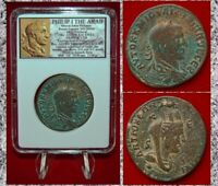 Ancient Roman Empire Philip I The Arab Tyche Antioch Large Museum Quality Coin!
