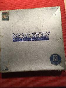 Monopoly silberne Ausgabe Spiele Schmidt - Vintage - ordentlicher Zustand