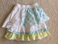 Naartjie blue green polka dot ruffle skirt size 7 girls EUC po