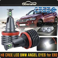 80W White BMW H8 CREE 8-LED Angel Eyes Ring Marker Light Bulb For 1 3 5 X Series