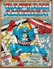 Captain DC Marvel Super Hero Cover Comics Retro Weathered Wall Decor Metal Sign