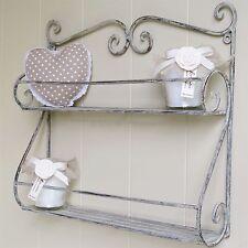Grey Scrolled Double Wall Shelf ORI3055