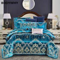 Silk Cotton Bedding Set Luxury Jacquard Bedding Sets Bed Sheet Set Duvet Cover
