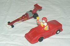 Hot wheels , lot de 2 voitures McDonald's , dragster 1991 et 1993 1:43