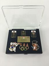 USA 1988 Seoul Calgary Olympic Limited Edition Pin Set of 7 3M XXIVTH Pins Rijo