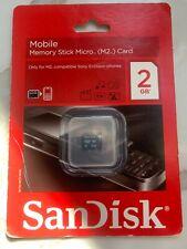 SanDisk 2GB Memory Stick Micro (M2) Card - (SDMSM2-002G-E11M) 1