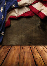 Flag Backdrops Vinyl Photography Wood Floor Photo Studio Props Background 5x7ft