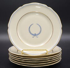 "Rosenthal Empire * 7 BREAD & BUTTER PLATES * 6 3/8"", Blue Wreath, Excellent"