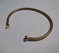 Da donna argento Sterling placcato oro flessibile bracciale torque 5g