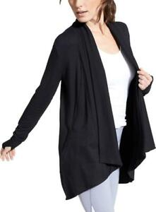 Athleta Women's Pranayama Wrap Soft Nirvana Side Pockets Black 777944