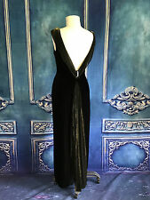 J. Ribkoff COUTURE Velvet Low Back Grecian Gown Dress SZ 8 OLD HOLLYWOOD 1940's